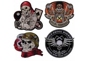 Biker Skull Patches