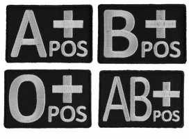 Shop Blood Type Patches - Embroidered Patches
