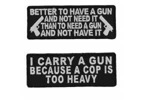 2nd Amendment Saying Patches