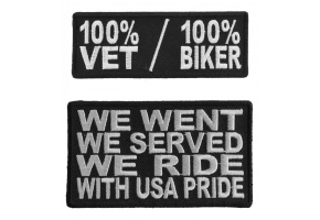 Biker Military Patches