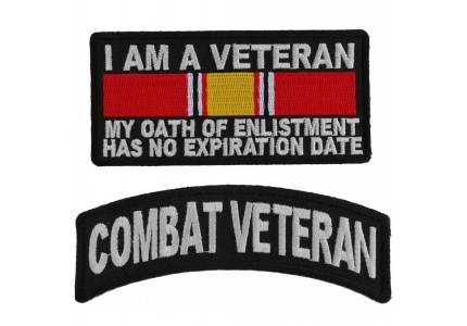 WE WENT WE FOUGHT SOME OF US DIED WE SERVED USA W// HONOR AND PRIDE IRON ON PATCH