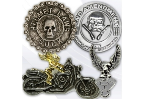 Motorcycle pins for bikers.
