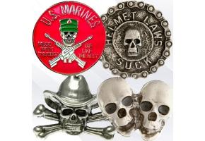 Skull biker pins