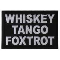 Whiskey Tango Foxtrot WTF Patch
