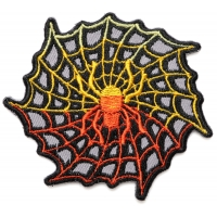 Flaming Spider and Web Patch over Gray