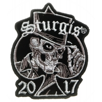 Sturgis 2017 Patch Tall Hat Skull