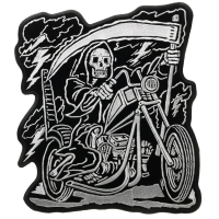 Reaper Riding Motorcycle Large Back Patch