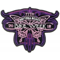 Daytona Bike Week 2018 Patch Butterfly
