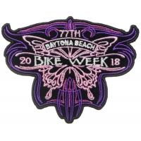 Daytona Bike Week 2018 Patch Butterfly