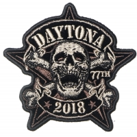 Daytona Bike Week 2018 Patch Skull Cross Bones