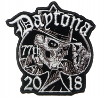 Daytona Bike Week 2018 Patch Tall Hat Skull