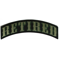 RETIRED Top Rocker Patch In Army Green Colors
