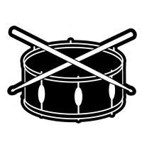 Drum and Sticks Music Band Patch