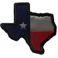 Reflective Texas Map Flag Patch