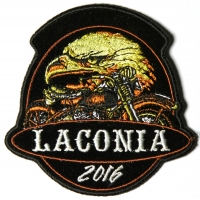 Laconia 2016 Motorcycle Rally Patch Eagle Biker