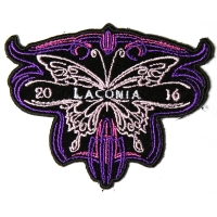 Laconia 2016 Motorcycle Rally Patch Butterfly