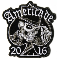 Americade 2016 Bike Week Patch Tall Hat Skull