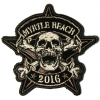 Myrtle Beach 2016 Bike Week Patch Star Skull