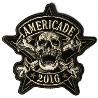 Americade 2016 Bike Week Patch Star Skull