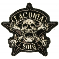 Laconia 2016 Motorcycle Rally Patch Star Skull