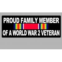 Proud Family Member of a World War 2 Veteran Patch