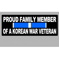 Proud Family Member of a Korean War Veteran Patch