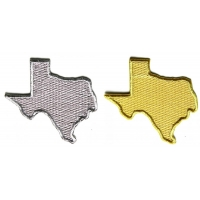 Gold and Silver Texas Map Patches