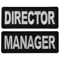 Business Costume Director and Manager Patches