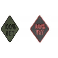 100 Percent Vet Patches Green Black Red Colors 2 Patches