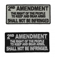2nd Amendment The Right Of The People To Keep And Bear Arms Shall Not Be Infringed Patches