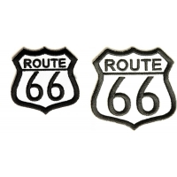 Route 66 Patches 2 Piece Set