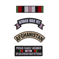 Afghan War Patches For Vets Set Of 4 Patches | US Afghan War Military Veteran Patches