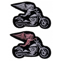 Angel Biker Patch Set Of 2 Motorcycle Angel Patches
