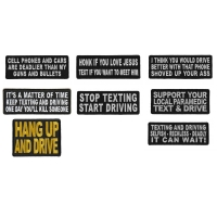Anti Texting And Driving Patches To Raise Awareness Set Of 8 Patches