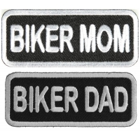 BIKER MOM And BIKER DAD Patches