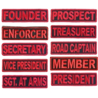 Black And Red Club Color Rank Patches Set Of 10 Ranks