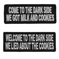 Come To The Dark Side Funny Patch Set