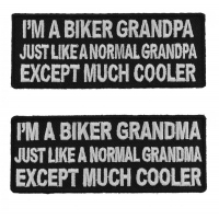 Funny Biker Grandma And GrandPa Cool Patch