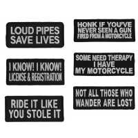 Funny Biker Patches Set Of 6