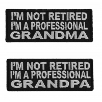 Funny Professional Grandma And Grandpa Patch For The Retired