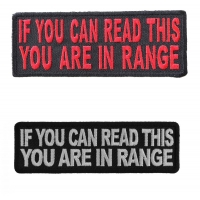 If You Can Read This You Are In Range FUN BIKER Patches