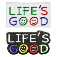 Life's Good Iron On Patches