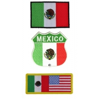 Mexico Flag Patches Set Of 3