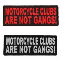 Motorcycle Clubs Are NOT Gangs Patch For Bikers In Clubs