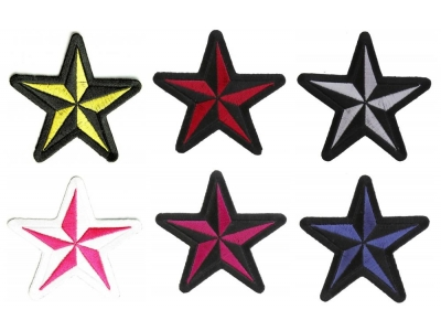 Red Black Star Patch Novelty Patches Thecheapplace