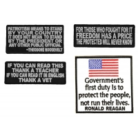Patriotic Patches For Veterans Set Of 4