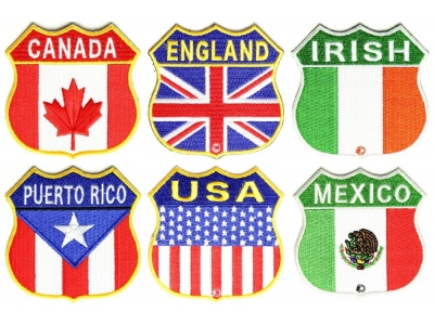 USA Shield Flag Patch   American Flag Patches -TheCheapPlace
