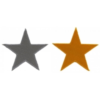 Silver And Gold Star Patch Set Of 2 Patches