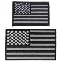 Small Reflective American Flag Patch Set Of 2 US Flag Patches