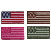 Tiny American Flag Patches Embroidered Iron On 4 Colors